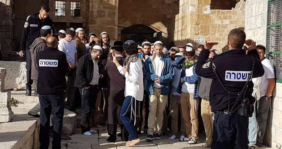 Puluhan Pemukim Yahudi Nodai Halaman Masjid Al Aqsa
