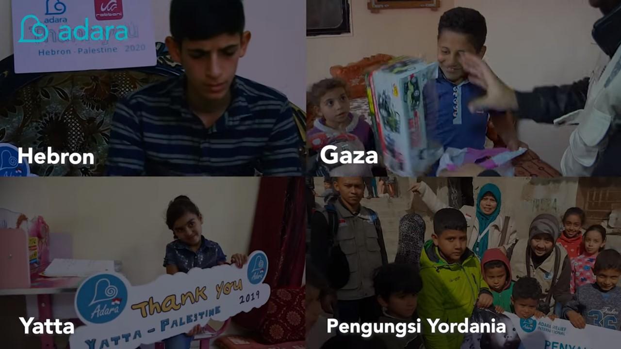 Penyaluran bantuan untuk anak yatim Palestina