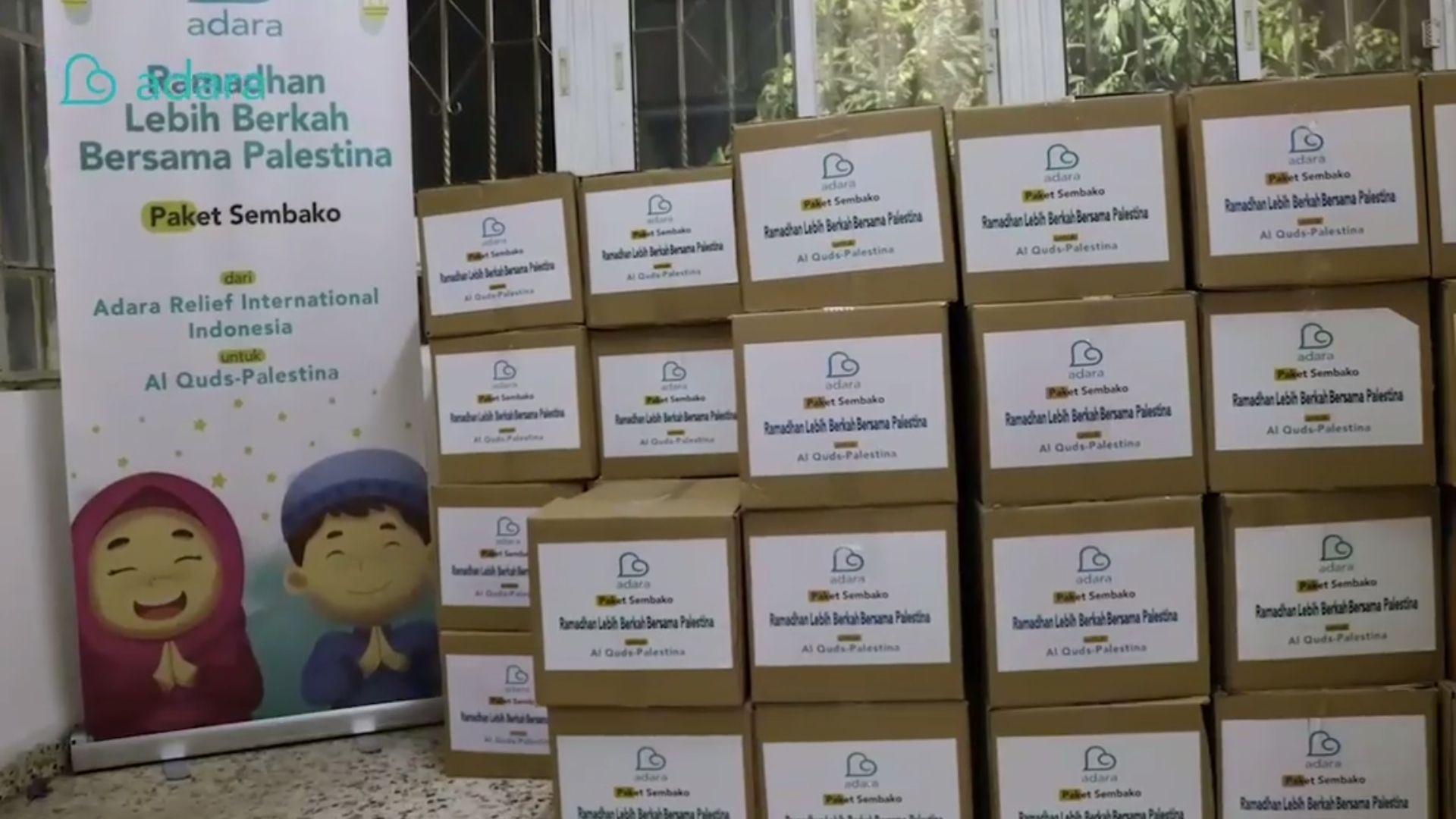 Penyaluran Paket Sembako untuk Warga Al Quds